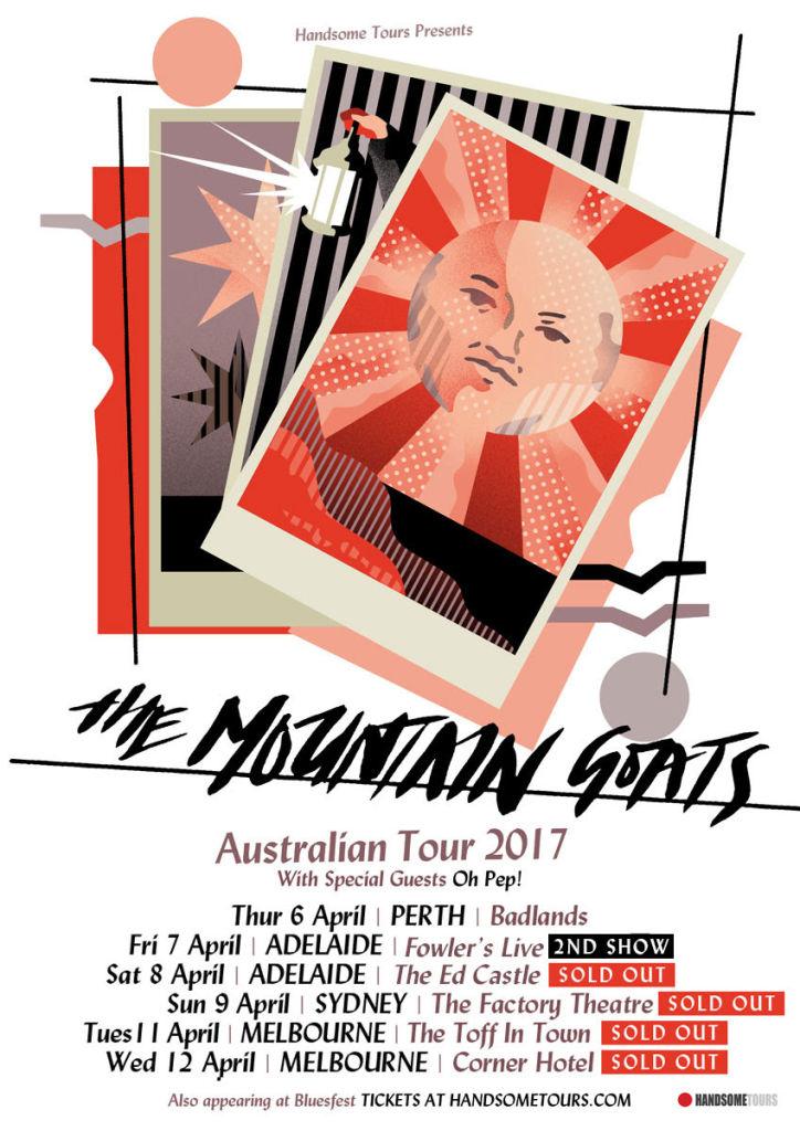 The Mountain Goats tour poster