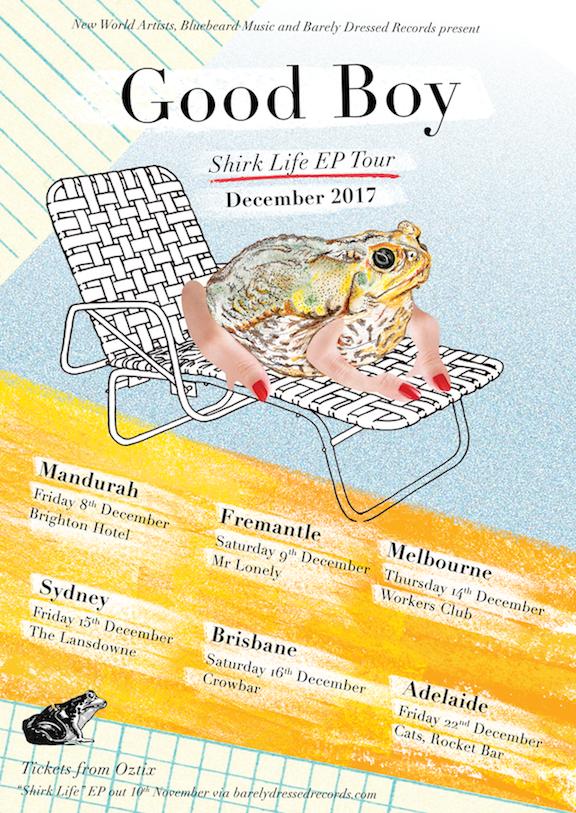Good Boy tour poster