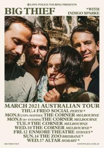 big thief tour poster